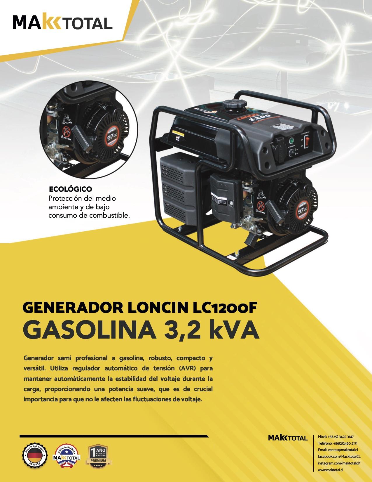 Generador Loncin LC1200F